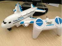 aircraft running lights - children educational toys Remote control electric aircraft Onshore run Light music channels