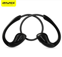 Wholesale Awei A880BL Bluetooth Earphone Wireless Earphones and Headphone with mic Sport Stereo Headset for Smart phone for iPhone for PC