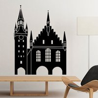 abstract architecture - Germany Cologne Cathedral Landmark Architecture Silhouette Illustration Pattern Wall Sticker Art Decals Mural DIY Wallpaper for Room Decal