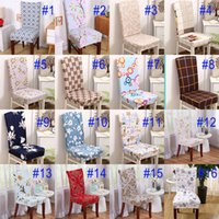 Wholesale New Soft Spandex Stretch Dining Chair Cover Machine Washable For Restaurant Weddings Banquet Hotel Chair Covering Flower Printing