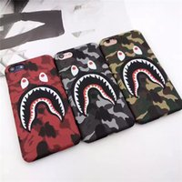 Cheap Fashionable Brand Jaws Shark Mouth Cell Phone Cases For iPhone6 6s 6Plus 6sPlus iPhone7 7Plus 180 Degrees Protection Dull Polish Low Amount