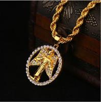 avatar pendant - 2016Trendy disc small cz diamond pendant necklace Avatar Angel hip hop stage catwalk accessories Medusa Necklace