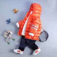 Wholesale 2016 new children s down jacket light and short section hooded baby winter jacket boys and girls baby down jacket