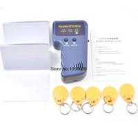 Wholesale Handheld KHz RFID Copier Writer Duplicator Programmer Reader EM4305 T5577 Rewritable Keyfobs Tags T5577 card
