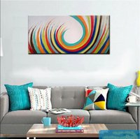 Wholesale Noframed Hand painted FASHION Modern Abstract Oil Painting On Canvas Wall Art Gift Home decoration