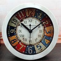arabic numeral numbers - European Classic Iron Drawing Style D Rivet Antique Desk Alarm Clock Digital Clock Roman Numerals Arabic Numbers Home Decor