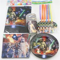 Wholesale pc Star Wars Decoration Tablecloth Cartoon Napkins Baby Shower Paper Cups Happy Birthday Party Kids Favors Plates Supplies