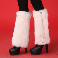 ankle cuff shoes - Retail cuffs leg warmers boot socks Women plush real rabbit Fur Fashion Ankle Warmer multicolors Leg Shoes Sleeves Cover