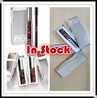 best liquid liners - In Stock Best sell Christmas Gift Kylie holiday Cosmetics Lip Kit Vixen Merry Holiday Edition Liquid Lipstick Pencil Lip Liner Vixen