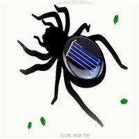 Wholesale Novelty Toys New High Quality Solar Power Legs Black Crazy Spider Children Toy Solar Energy Toy DHL Free