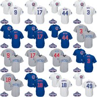 Wholesale 2016 World Series Champions Patch Youth chicago Cubs Jersey Javier Baez Kris Bryant Anthony Rizzo Russell kids Baseball Jerseys