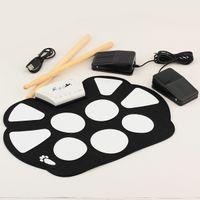Bon Marché Batterie électronique pad ensemble-Kit de batterie électronique de percussion Mini kit de batterie de percussion électronique