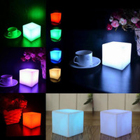 Wholesale Square LED Outdoor Light Cube mini cube Night light square night light led glow cube JF