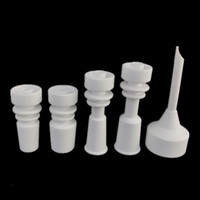 armed caps - Ceramic Bangers nail carb cap for bong glass water pipe side arm domeless with universal mm mm male joint ceramic nails domeless