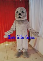 baby athletic clothes - High quality Real Pictures Deluxe Sea lion baby Mascot Costume Mascot Cartoon Character Costume Adult Size Christmas Clothing