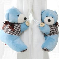 baby bedroom curtains - Fashion bear curtain tiebacks baby nursery child plush tie backs bedroom toy for Home Decoration