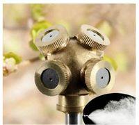 Wholesale 4 Hole Garden Watering Brass Spray Misting Nozzle Garden Sprinklers Water Connector