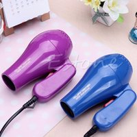 Wholesale 220V Portable Mini Hair Blow Dryer W Traveller Hair Dryer Compact Blower Foldable With US Plug