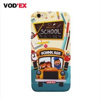 apple bus - Vodex CASES selling school bus apple water paste mobile phone shell embossed D feel iPhone7 P p