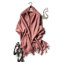 Wholesale The New Grams Of Female Cashmere Wool Scarf Scarf Shawl And Pure Lamb Winter Llong Thick