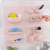 Wholesale Multi functional no trace of strong adhesive hanging rack convenient sort out kitchen bathroom products storage rack