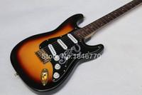 Wholesale New arrival F custom Stevie Ray Vaughan Strato guitar Sunburst ST custom electric guitar EMS