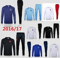 Wholesale 2016 season Marseille training suit adult Jerseys MEN blue black Survetement tracksuits Uniforms shirts long sleeve shirt