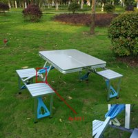 Wholesale Conjoined Outdoor Folding Dining Set Portable Table For Camping Utensils For a Picnic camp Table