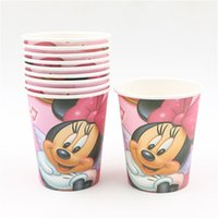 Wholesale lovely minnie cartoon design drinking cup glass happy birthday party decoration kettle cm minnie theme