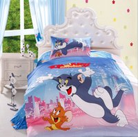 Wholesale Hot Sale Kids Cartoon D Bedding Set Kids Cotton pc Bedding Set Duvet Cover Bed Sheet