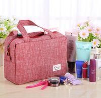 Wholesale Bag Organizer High capacity Storage bags Simple wash toiletries bag solidcolor colors travel handbag by DHL
