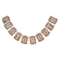 Wholesale Wedding Bunting Banner Photo Booth Garland Props Anniversary Bridal Party Decoration Brown