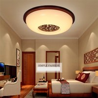 american meter - Classical Round LED Ceiling Lights for Home Wonderful Surface Mounted LED Ceiling Lights with American Oak