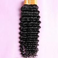 Indien Remy Weave 100% Virgen cheveux humains bouclés Extensions Deep Wave 1 Bundle Reine cheveux naturels noirs 1B # Coiffures Machine Trame