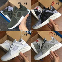 Wholesale 2017 New hot selling NMD XR1 Fall Olive green Sneakers Women Men Youth Running Shoes euro size Men Sports Shoes NMDs running shoes