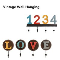 Wholesale American country style Vintage Resin Bathroom Bar Kicthen Coffee Wall Hook Many Different Types Robe Hook