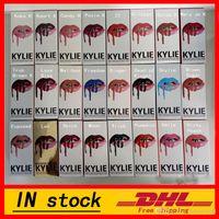 Wholesale KYLIE JENNER LIP KIT Kylie Lip Velvetine Liquid Matte Lipstick in Red Velvet Makeup Lip Gloss colors Smile Moon Spice Pumpkin colors