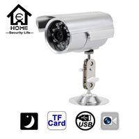 Wholesale CCTV Camera TVL Waterproof Outdoor CCTV Security Support Micro SD TF Card Night Vision DVR Recorder Indoor bullet camera