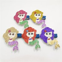 ariel hair clip - Mermaid Hair clips Baby girl Hair accessories Cute Ariel Barrettes Hotsale baby gifts Boutique Accessories European Pink