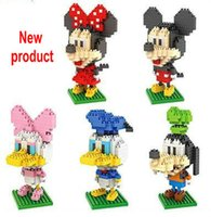 Wholesale DIY model toys Small diamond particles blocks Kindergarten teaching Intelligence development Disney cartoon Mickey Minnie Donald Duck goofy