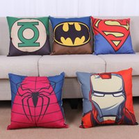 Wholesale Superhero Throw Pillows Cover CM Decorative Meditation Pillowcase Marvels Anime Cartoon Pillow Avengers Printed Cushion Superman Batman