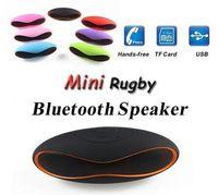 Wholesale 15 cm Mini X6U X6 Rugby Speaker Subwoofers Mini Portable Soccer Wireless Bluetooth V3 Speakers With U Disk TF Card Mic