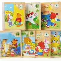randomly animal story books - Sides Set D Animal Cartoon Wooden Puzzle Story Books IQ Children Educational Wisdom Jigsaw Early Learning Baby Kids Toys Gifts