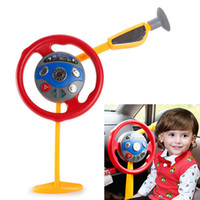 Wholesale Hot Selling Kids Classic Toy Pretend Play Backseat Driver Car Game Electronic Steering Wheel with Lights Sound VE0289