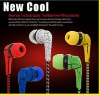 bass earpiece - NEW high quality crack universal earphone cloth rope earpieces stereo bass MP3 music headset with mic let phone for cellphone MP3 MP4