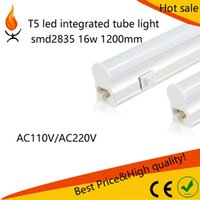 Wholesale T5 LED integrated tube light lamp bulb with switch smd2835 ft w