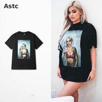 al por mayor hombres mujeres hermosas-Europa y la costa oeste Patinetas Personalizadas Bboy de Hip-hop de la costa oeste T-shirt Impresión hermosa de las mujeres de la roca muerta T-shirt Camiseta de Kylie Jenner Kanye
