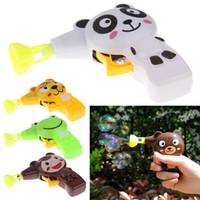 Wholesale Cartoon Cute Automatic Soap Bubble Gun Colorful Water Bubbles Plastic Kid Toy Gift