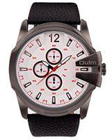 al por mayor del oulm blanco-OULM Blanco Dial Rojo Número Japón Movimiento De Cuarzo Reloj De Pulsera Mens Faux Leather Band Impermeable