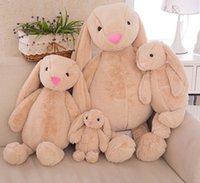 achat en gros de plush rabbit toy-Décoration de Pâques 35cm Lapin de Pâques court Peluche Lapin jouets Les cadeaux Lapin de Pâques pour les enfants Bébé calme Peluches